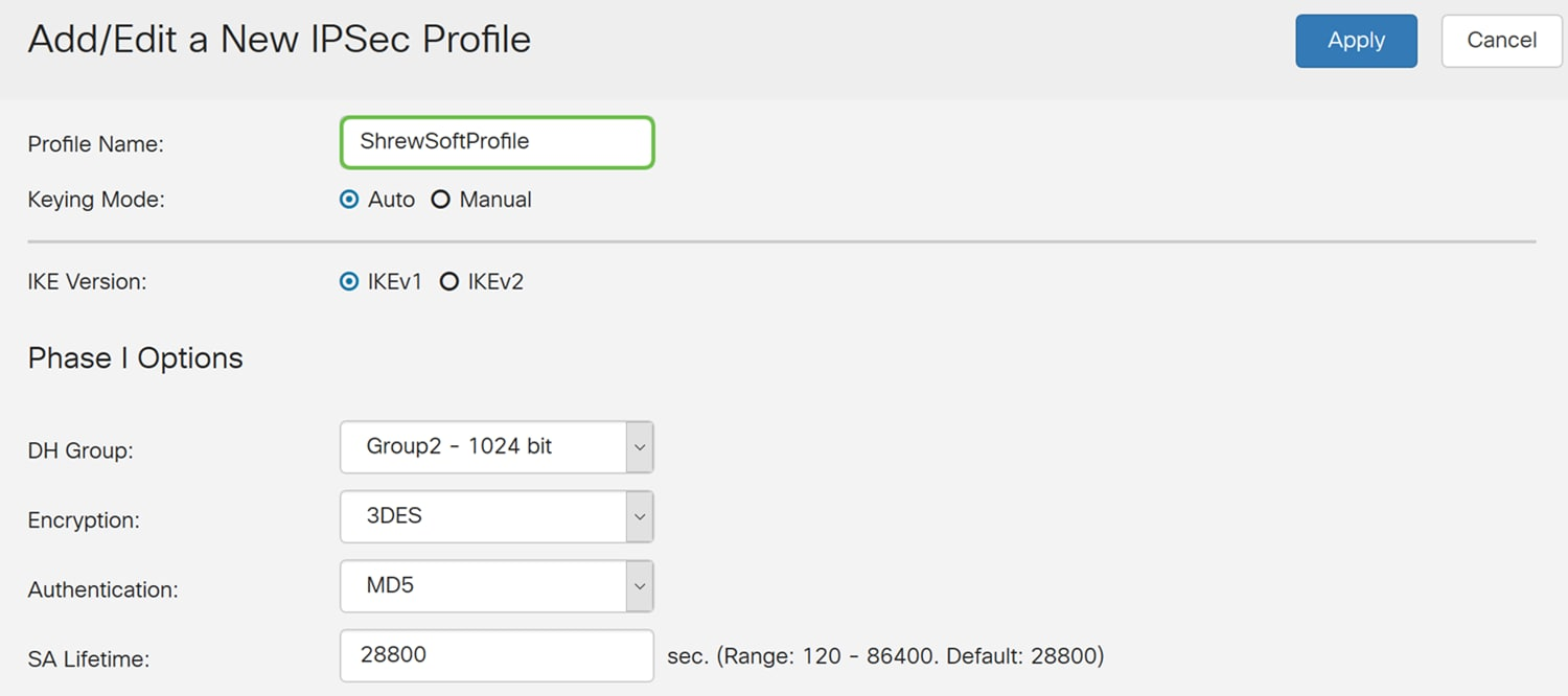 Configuring Shrew Soft VPN Client with the RV160 and RV260
