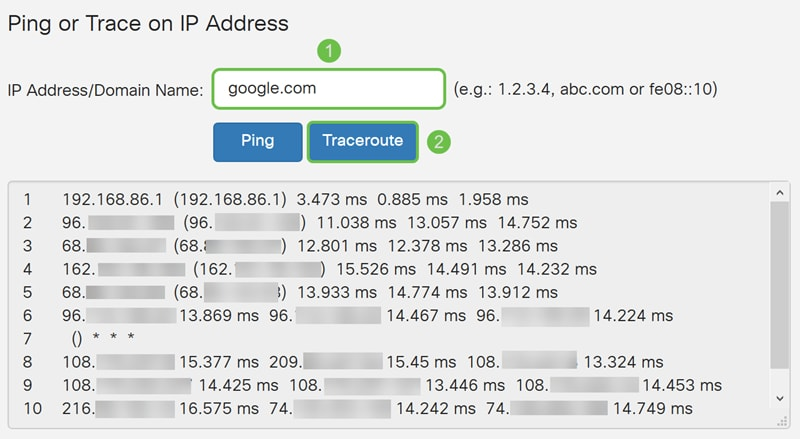 Ping, Traceroute, and DNS Lookup on the RV160 and RV260 - Cisco