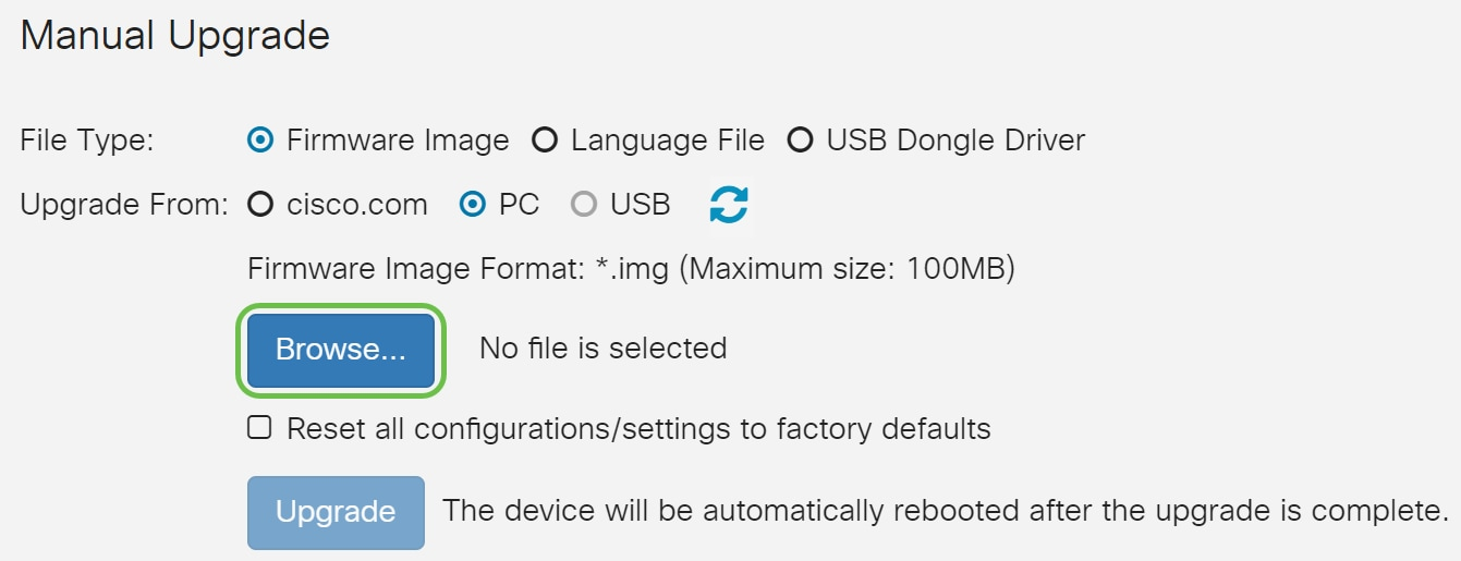 Upgrade firmware on RV160x and RV260x routers - Cisco