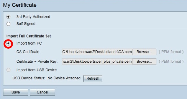 Workaround for uploading rv32x series router certificate cisco.