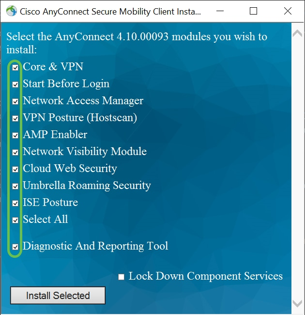 Install Cisco AnyConnect Secure Mobility Client on a Windows