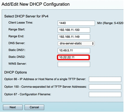 Configure the lan and dhcp settings on the rv34x series router cisco.