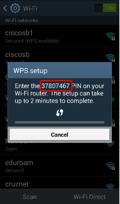 Set Up a Wireless Connection via Wi-Fi Protected Setup (WPS) on an