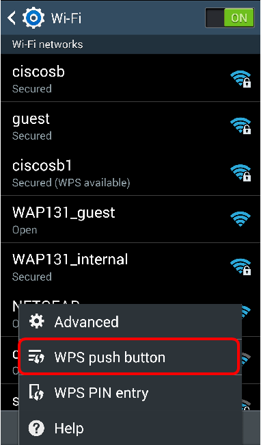 Set Up a Wireless Connection via Wi-Fi Protected Setup (WPS