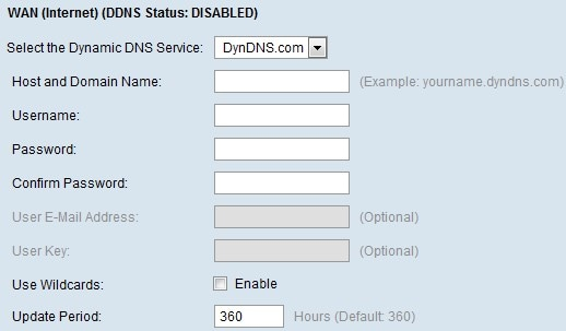 Dynamic Domain Name System (DDNS) Configuration of DynDNS com, TZO