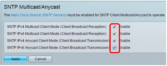 Configure Simple Network Time Protocol (SNTP) Settings on a