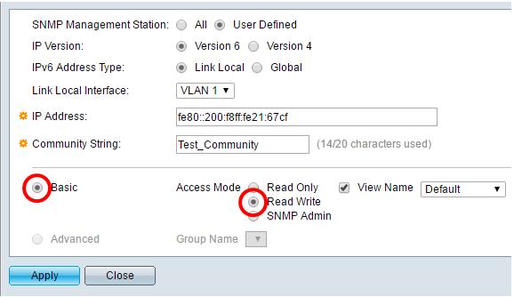 Configure Simple Network Management Protocol (SNMP