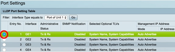 Configure Link Layer Discovery Protocol (LLDP) Port Settings