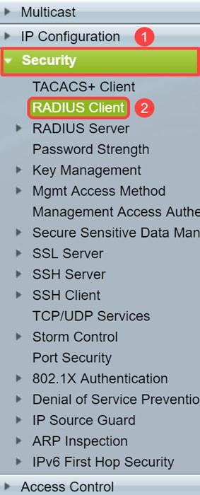 Configure 802 1x Port Authentication Setting on a Switch - Cisco