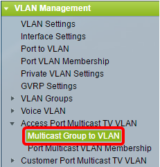 Configure Multicast TV Group to Virtual Local Area Network