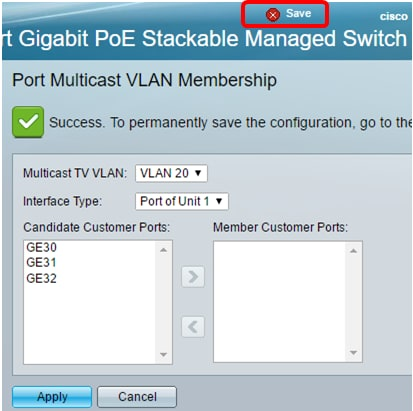Configure Customer Port Multicast TV Virtual Local Area