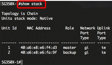 Configure Stack Settings on a Switch through the Command Line