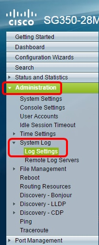 Configure Log Aggregation Settings on an Sx350 Series Managed Switch