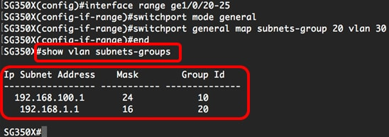 Configure Subnet-based VLAN Groups on a Switch through the