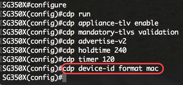Configure CDP Settings on a Switch through the CLI - Cisco
