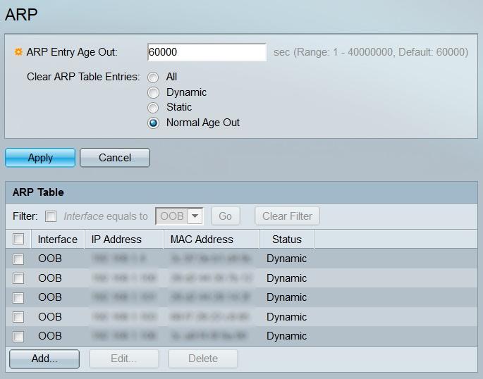 ARP Configuration on the SG350XG and SG550XG - Cisco