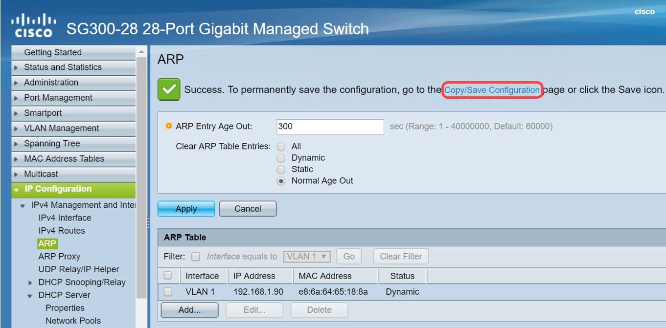 Tips to Keep the ARP Table Available for DHCP IP Addressing