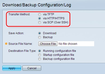 Download or Backup Configuration and Logs on ESW2-350G