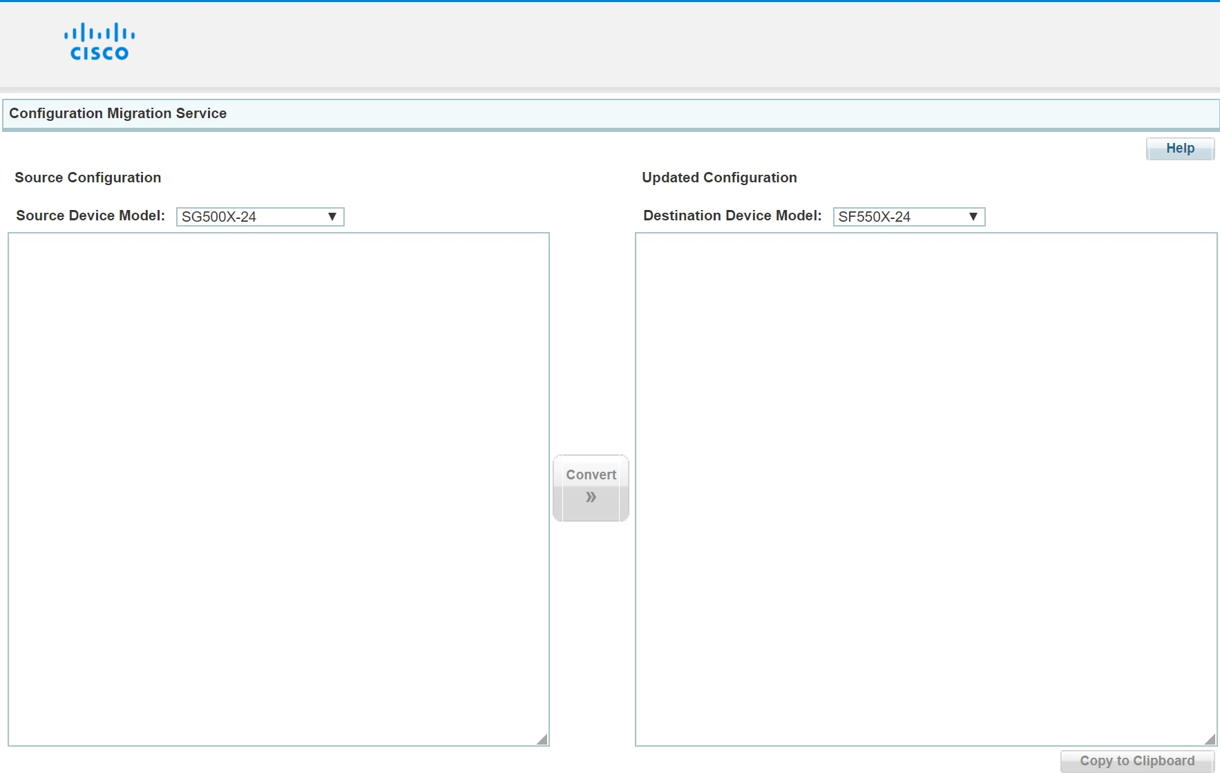 Configuration Migration Service Tool - Cisco