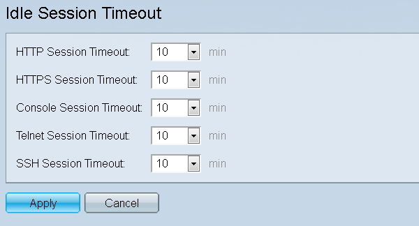 Configuration of Idle Session Timeout on the 200/300 Series