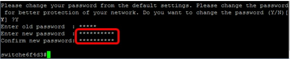 Configure Password Settings on a Switch through the Command Line