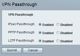 Configure the VPN Passthrough Setting for SPA122 - Cisco