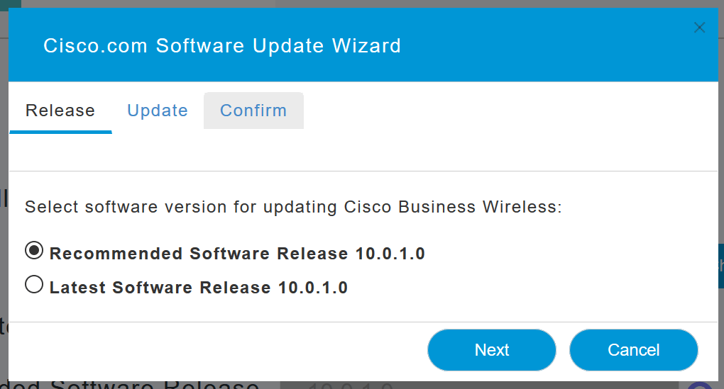The Software Update Wizard appears.