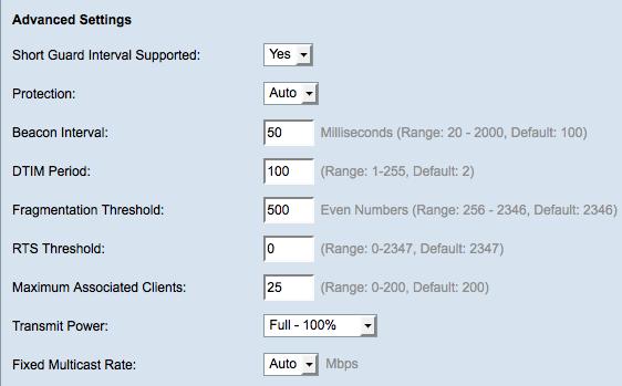 Advanced Wireless Radio Settings On Wap121 And Wap321 Access Points Cisco