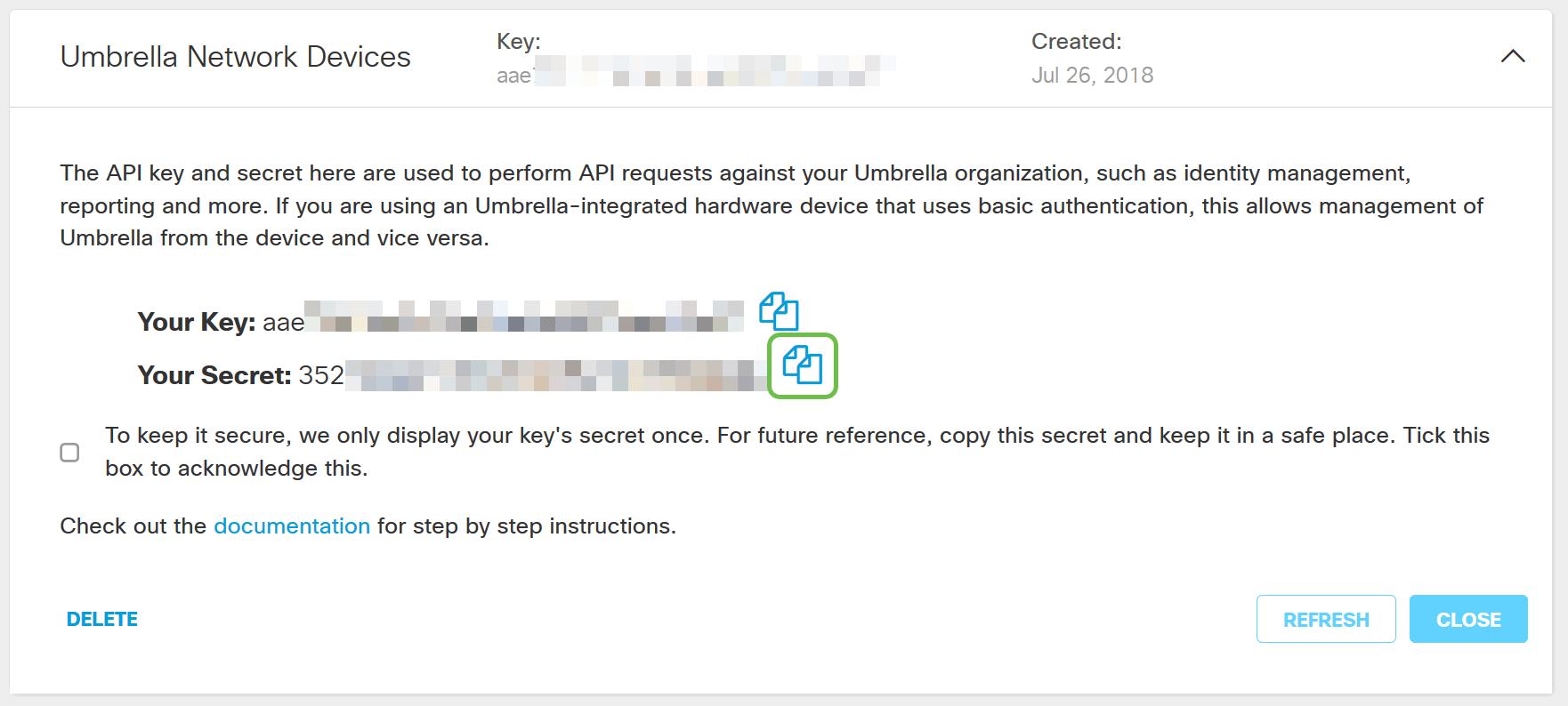How To: Recover a lost Umbrella Secret Key - Cisco