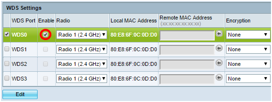 Configure Wireless Distribution System (WDS) on the WAP131