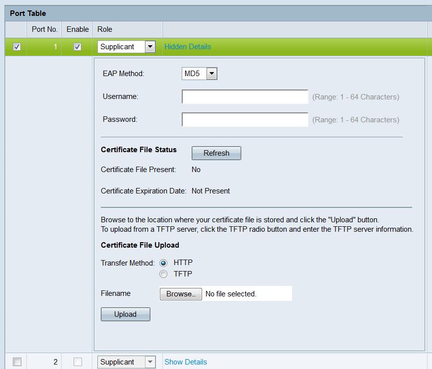 Configure 802 1X Settings on the WAP351 - Cisco