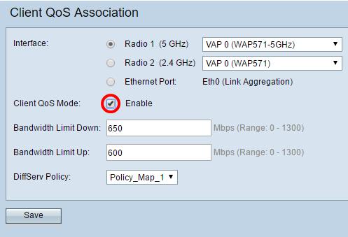 Configure Client Quality of Service (QoS) Association on a