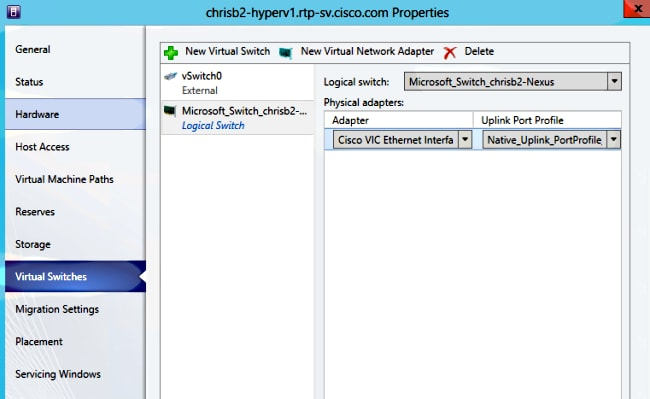 Nexus 1000v Quickstart with Hyper-V Server Configuration Example - Cisco