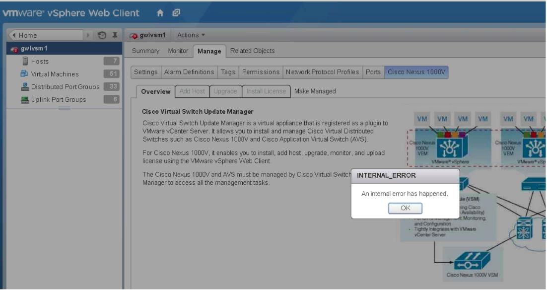 Troubleshooting Scenarios for Nexus 1000v (N1kv) with VSUM