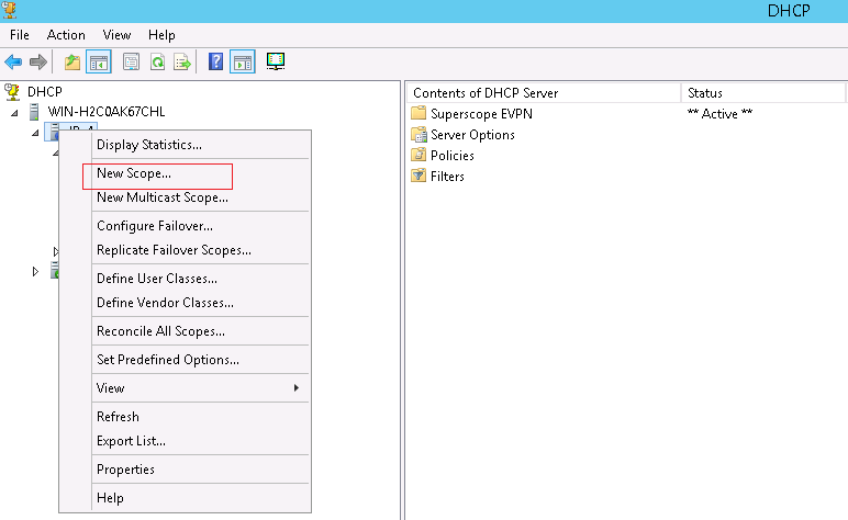 configuring microsoft windows server 2012 to provide dhcp services