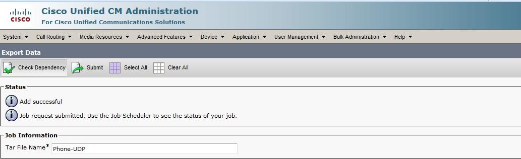 Job Scheduler option in the Bulk Administration main menu to schedule ...