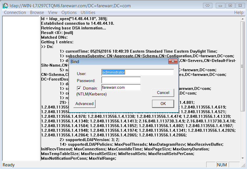 How to Use ldp exe to Search LDAP Servers - Cisco