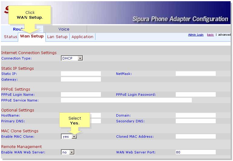 Enabling Wan Web Server On Spa2100 Cisco