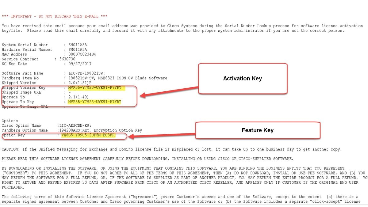 Install activation and feature keys on a cisco for Pdf architect key