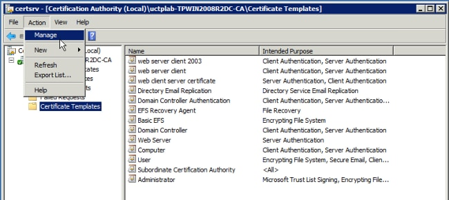 Video communication server certificate authority configuration click addremove snapin and select certificate authority expand the ca in the left pane and select certificate templates right click the certificate yelopaper Choice Image