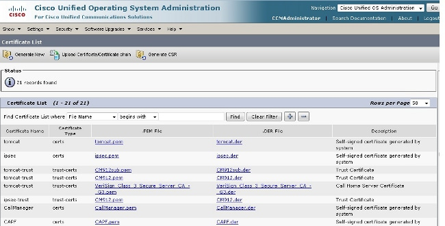 Callmanager Certificate Expiration And Deletion Cisco