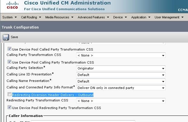 Calling party presentation default programs