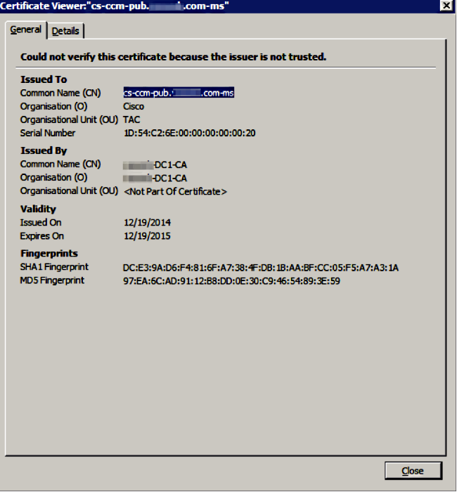 Unified Communication Cluster Setup with CA-Signed Multi-Server ...