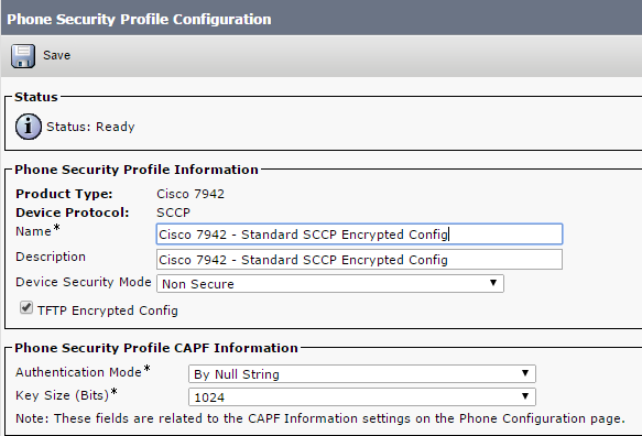 Enable the Encrypted Configuration Feature on the CUCM - Cisco