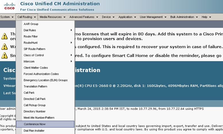 Configure Conference Now Feature on CUCM 11 - Cisco