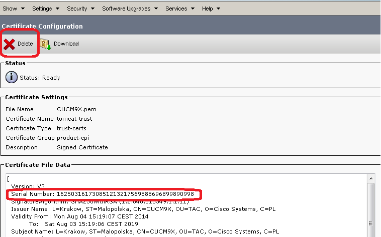 Cucm Certificate Management And Change Notification Cisco