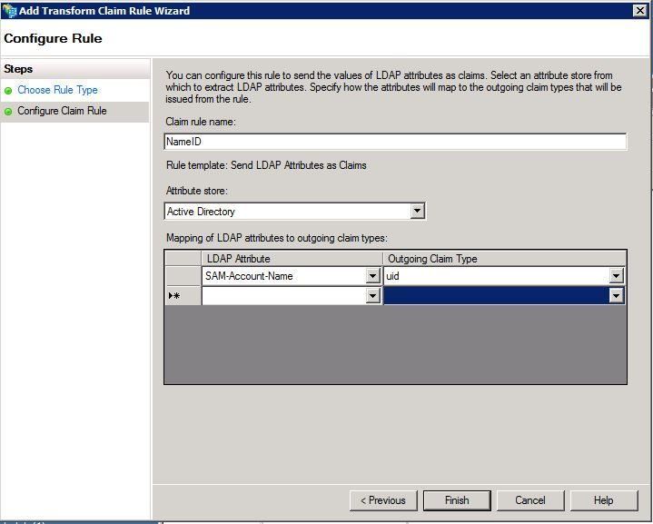 Configure Single Sign-On using CUCM and AD FS 2 0 (Windows