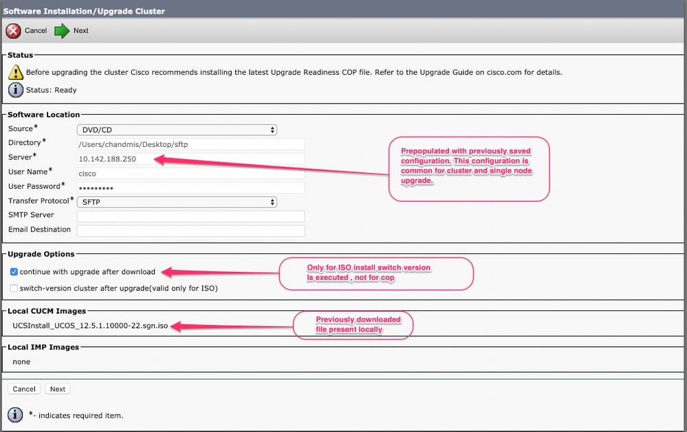 Upgrade Enhancements in Cisco Unified Communications Manager(CUCM