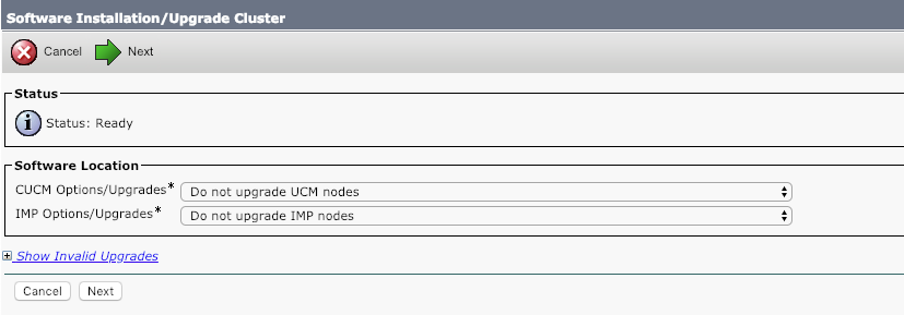 Upgrade Enhancements in Cisco Unified Communications Manager