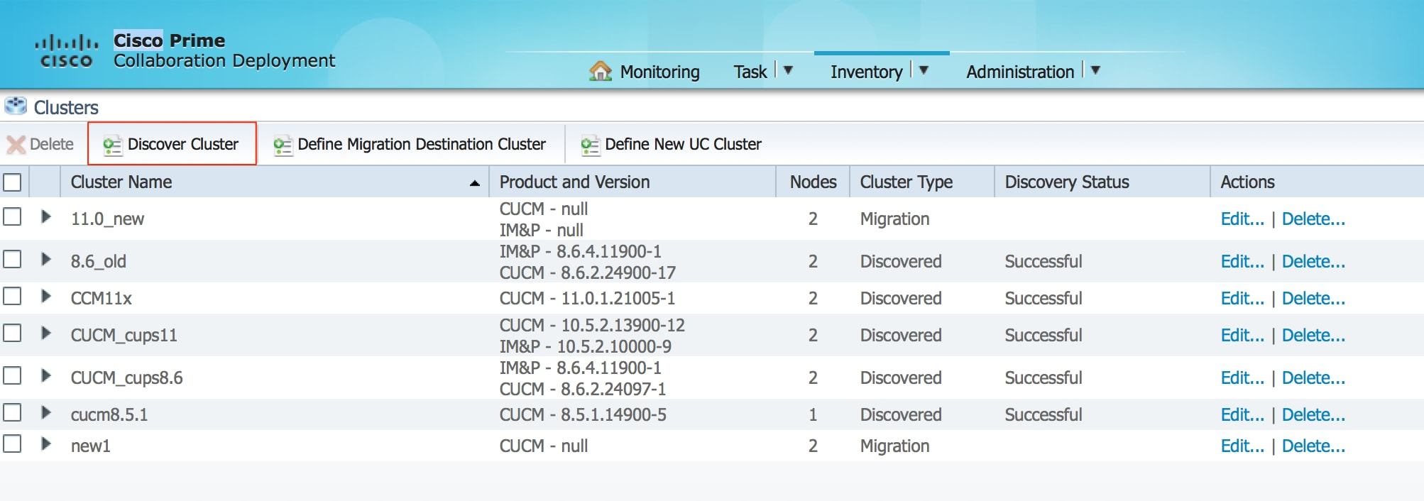 Installation of Cisco Call Manager Device Pack through Prime